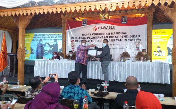 Bawaslu Riau Raih Penghargaan Upload Siswalu Terbaik Nasional Tahun 2020.