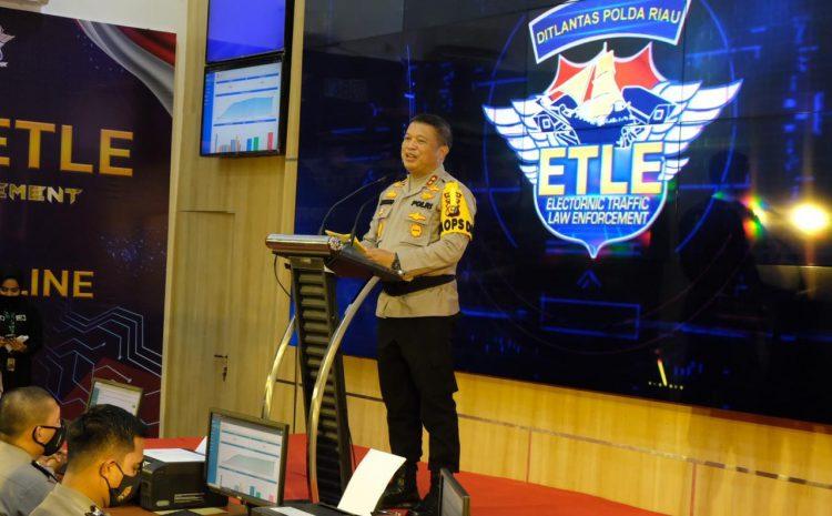 Launching E-TLE Nasional, Kapolda Riau Resmikan Pelayanan Terpadu Online Polda Riau