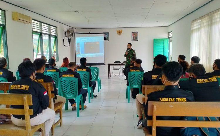 Peduli Pendidikan TNI Bekali Mahasiswa Wawasan Kebangsaan dan Teknik