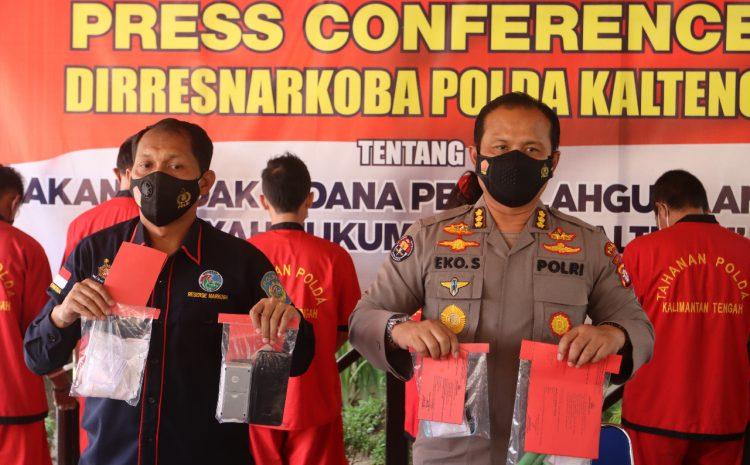 Dari 4 TKP, Ditresnarkoba Polda Kalteng Bekuk 6 Pelaku