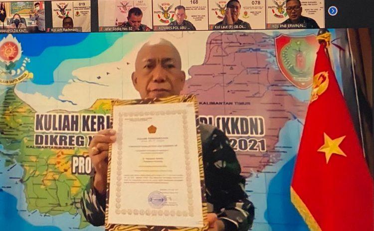 Secara Virtual, Wakapolda Kalteng ikuti Executive Summary KKDN Pasis Dikreg ke-48 Sesko TNI tahun 2021